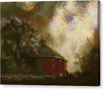 Barn Storm Canvas Print - Round About The Barn by Margaret Wingstedt