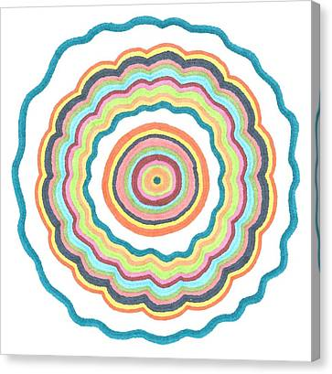 Canvas Print featuring the drawing Round And Round by Jill Lenzmeier