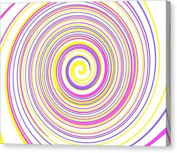 Round And Round Canvas Print