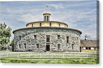 Round Barn Canvas Print by Stephen Stookey