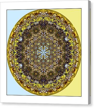 Round Geometric Design Canvas Print