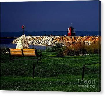 Round Island Lighthouse Mackinac Island Michigan Canvas Print