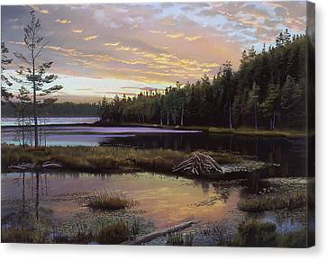 Round Pond Canvas Print by Art Chartow