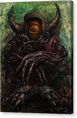Fantasy Creatures Canvas Print - Round Robot by Frank Robert Dixon
