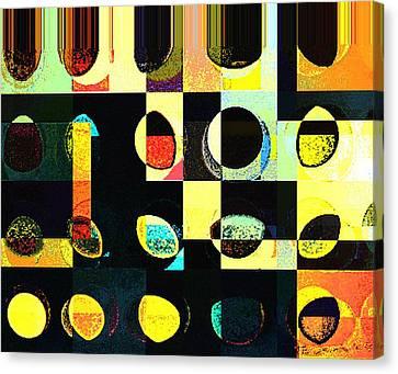 Round Series 50 Canvas Print by Teodoro De La Santa