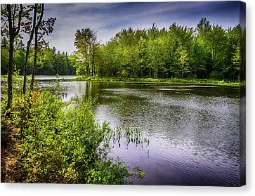 Canvas Print featuring the photograph Round The Bend In Oil 36 by Mark Myhaver