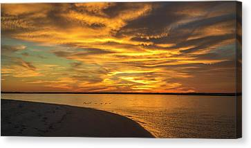 Topsail Island Canvas Print - Round The End by Betsy Knapp