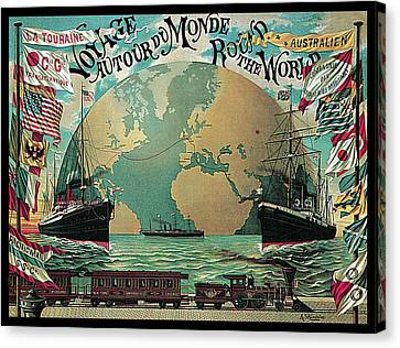 Round The World Voyage Canvas Print by A Schindeler