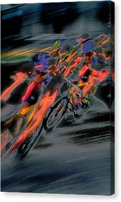 Rounding The Corner Canvas Print by Rod Kaye