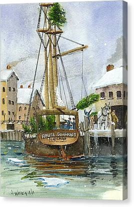 Rouse Simmons Canvas Print by Lawrence Welegala