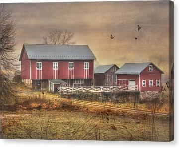 Route 419 Barn Canvas Print by Lori Deiter
