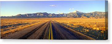 Route 50, Road To Great Basin National Canvas Print by Panoramic Images