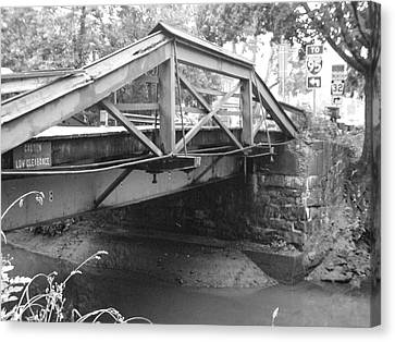 Route 532 Bridge Over The Delaware Canal - Washington's Crossing Canvas Print by Bill Cannon