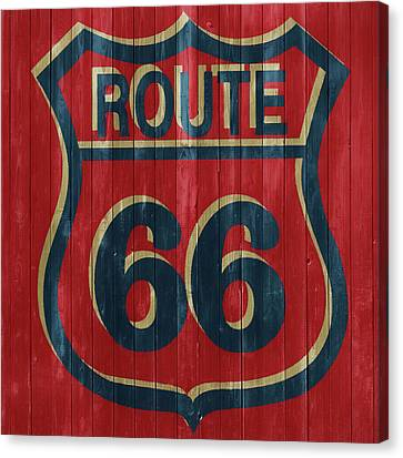 Dust Canvas Print - Route 66 Barn Door by Dan Sproul