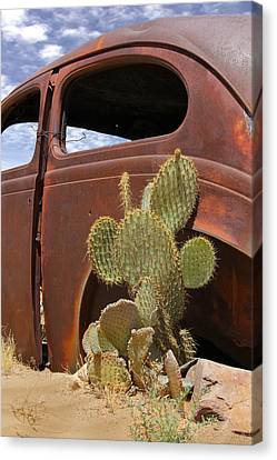 Route 66 Cactus Canvas Print by Mike McGlothlen