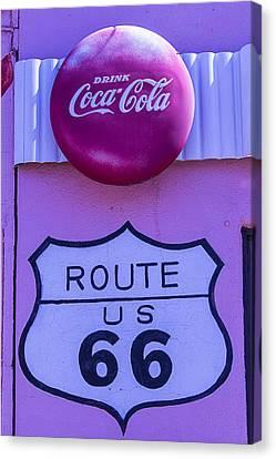 Route 66 Coca Cola Sign Canvas Print