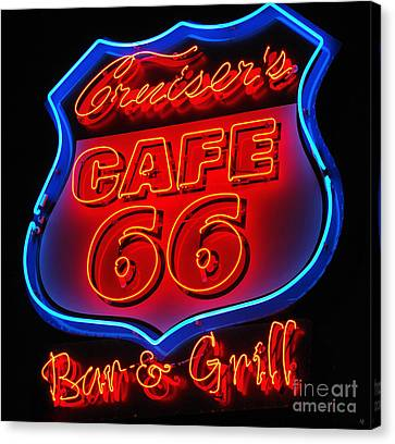 Route 66 Canvas Print by Donna Greene