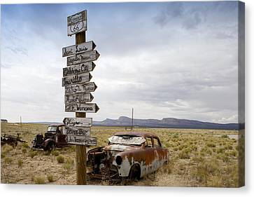 Route 66 In Arizona Canvas Print by Carol M Highsmith