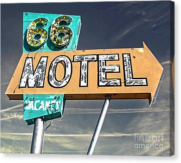 Route 66 Motel Sign Canvas Print by Gregory Dyer