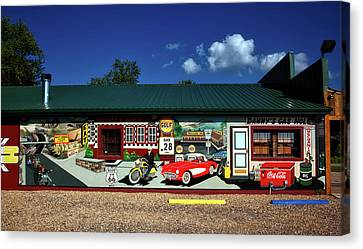 Route 66 Mural Canvas Print by Mountain Dreams