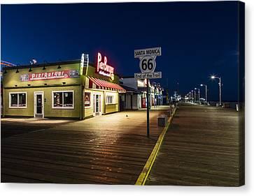 Route 66 Pier Burger Canvas Print