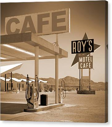Route 66 - Roy's Motel  Canvas Print by Mike McGlothlen