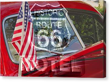 Canvas Print featuring the photograph Route 66 The American Highway by David Lee Thompson