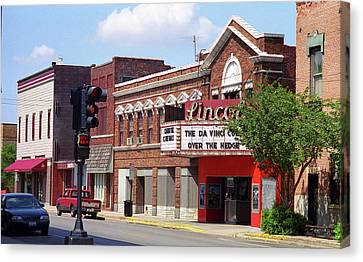 Route 66 Theater Canvas Print by Frank Romeo