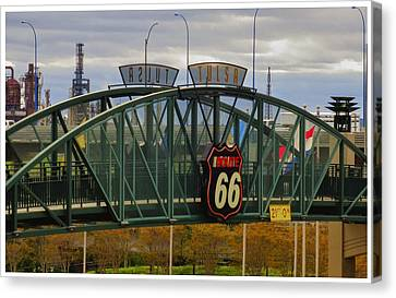 Route 66 Tulsa Sign - Hdr Canvas Print by Tony Grider