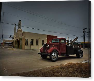 Route 66 - U-drop Inn 001 Canvas Print by Lance Vaughn