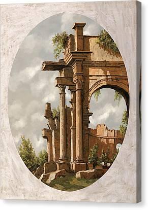 Rovine Romane Canvas Print by Guido Borelli