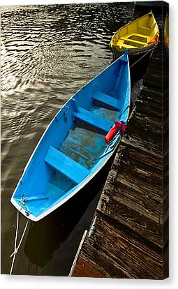 Row Boats Canvas Print by Dale Stillman