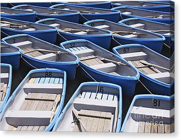Row Boat Canvas Print - Row Boats For Hire by Jeremy Woodhouse