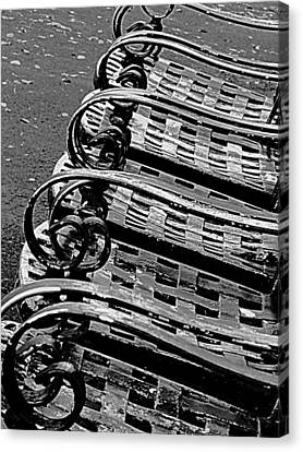 Canvas Print - Row Of Chairs by Ranjini Kandasamy