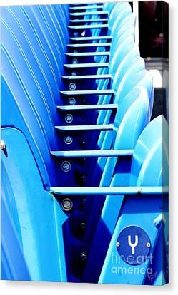 Ashe Canvas Print - Row Of Stadium Seats by Nishanth Gopinathan