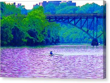 Row Row Row Your Boat Canvas Print by Bill Cannon