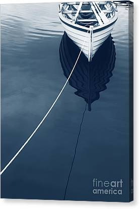 Rowboat Canvas Print - Row Row Row Your Boat Life Is But A Dream by Edward Fielding
