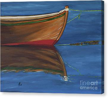 Arcylic Canvas Print - Rowboat by Christiane Schulze Art And Photography