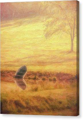Rowboat Canvas Print by Tom Mc Nemar