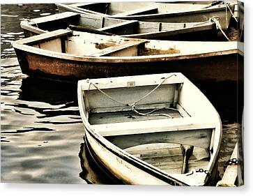 Rowboats In Maine Canvas Print by Tony Grider