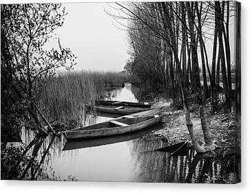 Rowboats Canvas Print by Marco Oliveira