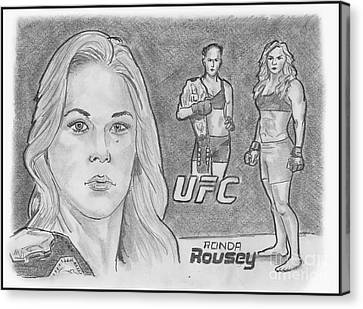 Rowdy Ronda Rousey Canvas Print by Chris DelVecchio