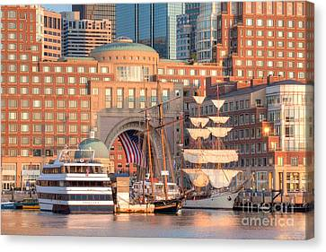 Rowes Wharf Canvas Print by Susan Cole Kelly