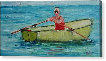 Rowing Away Canvas Print by Irit Bourla