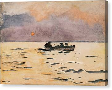 Rowing Home Canvas Print by Winslow Homer
