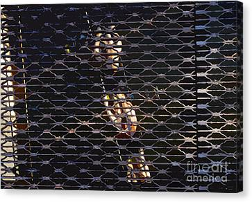 Grate Canvas Print - Rowing Through The Grate by David Lee Thompson