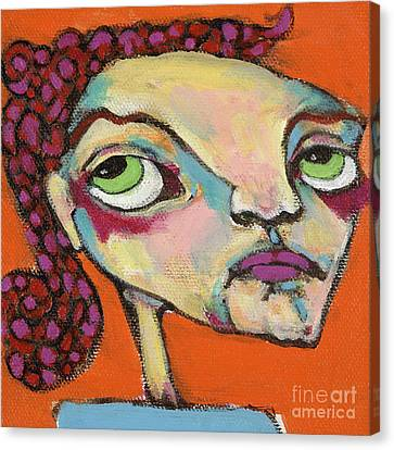 Canvas Print featuring the painting Roxie Box by Michelle Spiziri