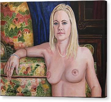 Roxy Canvas Print by Kenneth Kelsoe