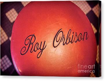 Roy Orbison Canvas Print - Roy Orbison Stool Sun Studio  by Chuck Kuhn
