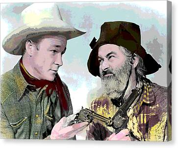 Roy Rogers And Gabby Hayes Canvas Print